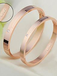 cheap -Titanium bracelet beloved couple bracelet Korean fashion jewelry jewelry for Valentine's Day
