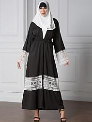 Plus Size Dress Muslim Brand Fashion 2017 Abaya Vintage Kaftan Dress Long Dresses Print Robe Knitting Soft Lace Dresse