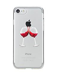 Per iPhone X iPhone 8 iPhone 7 iPhone 7 Plus Custodie cover Transparente Fantasia/disegno Custodia posteriore Custodia Cartoni animati