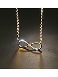 cheap -Women's Infinity Vintage Fashion Elegant Pendant Necklace AAA Cubic Zirconia Titanium Steel Pendant Necklace , Wedding Engagement Daily