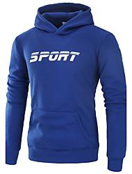 abordables -Sweat à capuche Homme Sports Sortie Décontracté / Quotidien Course simple Actif Chic de Rue Couleur Pleine Micro-élastiquePolyester