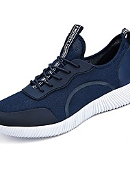 Men's Athletic Shoes Running Comfort Tulle Spring Fall Casual  Flat Heel Blue Gray Black 2in-2 3/4in