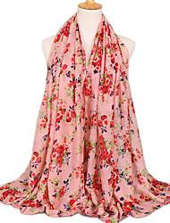 cheap -Women's Voile Fashion Garden Style Floral Scarf  180*90CM