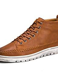economico -Da uomo Sneakers Comoda Finta pelle Estate Autunno Casual Footing Più materiali Basso Nero Marrone Grigio scuro 2,5 - 4,5 cm