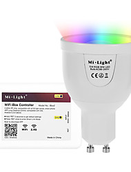 5W GU10 LED Smart Bulbs A60(A19) 12 leds SMD 5730 Infrared Sensor Dimmable Remote-Controlled WIFI APP Control Light Control RGB+Warm 500