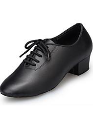 "cheap -Women's Latin Leather Heel Professional Chunky Heel Black 1"" - 1 3/4"""