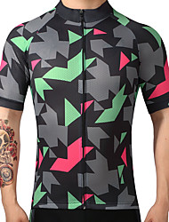 cheap -FUALRNY® Cycling Jersey Men's Short Sleeves Bike Jersey Top Quick Dry Breathability 100% Polyester Summer Mountain Cycling Road Cycling