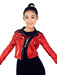 MiDee Outfits Performance Spandex / Polyester Pockets 3 Pieces Jazz Long Sleeve High Top / Coat / Pants