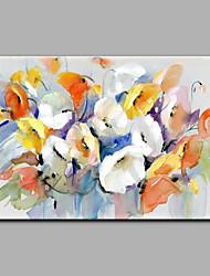 economico -Dipinta a mano Floreale/Botanical Orizzontale,Modern Un Pannello Tela Hang-Dipinto ad olio For Decorazioni per la casa