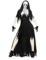 cheap -Bloody Mary Dress / Cosplay Costume Men's / Women's Halloween / Carnival / Day of the Dead Festival / Holiday Halloween Costumes Black with White Vintage