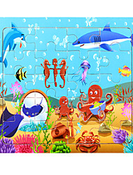 cheap -Jigsaw Puzzle Toys Dolphin Fish Lobster 3D Cartoon Wooden Not Specified Pieces