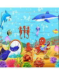 Недорогие -Пазлы Дельфин Рыбки Лобстер Мультфильм образный деревянный Аниме Универсальные Подарок