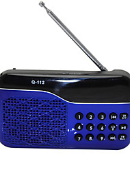 abordables -L-66 Radio portatil Reproductor MP3 Tarjeta TFWorld ReceiverNegro Rojo Azul