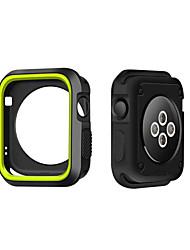 levne -Pro jablko hodinky pouzdro 38 / 42mm odolné proti poškrábání flexibilní kufr štíhlý lehký ochranný kryt nárazníku pro jablko hodinek řady
