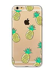 Недорогие -Кейс для Назначение Apple iPhone X iPhone 8 Plus Прозрачный С узором Задняя крышка Плитка Фрукты Мягкий TPU для iPhone X iPhone 8 Plus