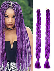 cheap -41inch 3pcs Box Braids Jumbo Hair Extensions 165g Kanekalon Hair Hair Braids colored Jumbo twist Crochet Braids Long Synthetic Hair braiding