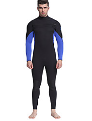 cheap -MYLEDI Men's 3mm Full Wetsuit Waterproof Thermal / Warm Front Zipper Wearable YKK Zipper Thick Full Body Neoprene Rubber Diving Suit