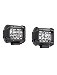 2PCS 36W 3600lm 6000K LED White Spot 3-Rows Working Light for Car/Boat/Headlight   9v-32v