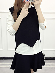 cheap -Women's Sleeveless Pullover - Solid Shirt Collar