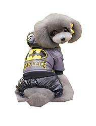 Недорогие -Собака Комбинезоны Одежда для собак Дышащий Новый год Вышивка Кофейный Синий Костюм Для домашних животных