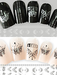 2pcs/Set Fashion Nail Art 3D Sticker Charming Necklace Gorgeous Decoration Black White Beautiful Design Nail DIY Beauty Stickers Manicure Beauty F113