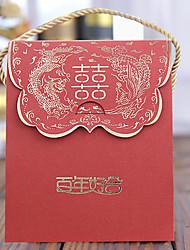 Недорогие -Креатив Кубический Картон Розовая бумага Фавор держатель с Узор Коробочки Мешочки