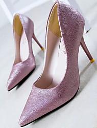 preiswerte -Damen Schuhe Echtes Leder PU Herbst Winter Komfort Pumps High Heels Für Normal Weiß Schwarz Rosa