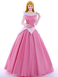 cheap -Princess Fairytale Queen Aurora Cosplay Costume Party Costume Masquerade Movie Cosplay Pink Dress Petticoat Wig Christmas Halloween