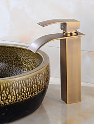 cheap -Art Deco/Retro Tall/High Arc Pull-out/Pull-down Standard Spout Vessel Ceramic Valve Oil-rubbed Bronze , Kitchen faucet