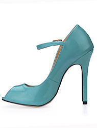 cheap -Women's Heels Comfort Summer PU Wedding Party & Evening Dress Light Purple Ruby Light Blue Light Pink Burgundy 4in-4 3/4in