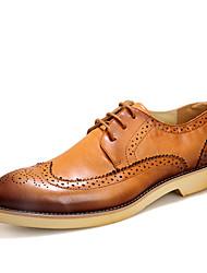 Homme Chaussures Cuir Eté Automne Chaussures formelles Oxfords Marche Pour Soirée & Evénement Noir Marron Rouge