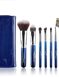 cheap -1set Makeup Brush Set Synthetic Hair Easy Carrying Multi-tool Easy to Carry Aluminum Wood Men Face Men and Women Eye Daily Lip