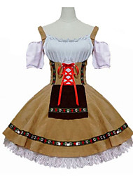 cheap -Maid Costume Oktoberfest Waitress Cosplay Costume Masquerade Female Adults' Carnival Oktoberfest Festival / Holiday Halloween Costumes