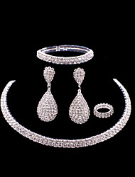 cheap -Women's Drop Earrings Necklace Bracelet Luxury Fashion Wedding Party Rhinestone Alloy Drop