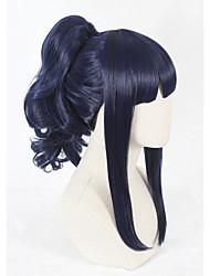 cheap -Synthetic Wig Faux Locs Wig Blue Capless Cosplay Wig Short Synthetic Hair