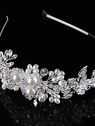 Crystal Imitation Pearl Alloy Tiaras Headbands Headpiece
