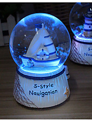 Random Style Christmas light snow crystal ball music box boys romantic friendship birthday gift bestie girl