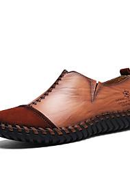 preiswerte -Herrn Schuhe Denim Jeans Frühling Herbst Komfort Loafers & Slip-Ons für Normal Büro & Karriere Schwarz Dunkelbraun Khaki