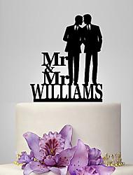 Недорогие -Украшения для торта Классика / Люди / Свадьба Однополые пластик Свадьба с 1 pcs Полиэтиленовый пакет