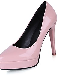 cheap -Women's Heels Light Soles Spring Fall PU Casual Dress Stiletto Heel Blushing Pink Ruby Light Grey Black White 2in-2 3/4in