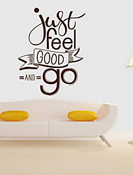 cheap -Decorative Wall Stickers - Plane Wall Stickers Leisure Living Room Bedroom Dining Room
