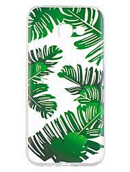 Case For Samsung Galaxy A5(2017) A7(2017) Case Cover Green Leaves Pattern Painted High Penetration TPU Material Soft Case Phone Case For A3(2017)