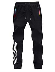 abordables -Hombre Casual Corte Ancho Chinos Pantalones - A Rayas