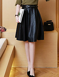 Women's Going out Knee-length Skirts Pencil Solid Summer