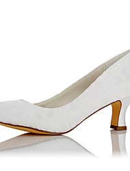 Women's Heels Comfort Fall Winter Lace Satin Wedding Dress Party & Evening White 2in-2 3/4in