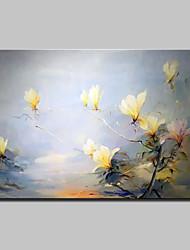 Dipinta a mano Floreale/Botanical Orizzontale,Astratto Modern Un Pannello Tela Hang-Dipinto ad olio For Decorazioni per la casa