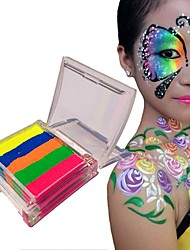 OPHIR 10g Neon Rainbow Face Body Paint Model Paint Makeup Pigment Marker Rainbow Flag Design