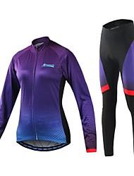Arsuxeo Maglia con pantaloni da ciclismo Per donna Bicicletta Set di vestiti Asciugatura rapida Sfregamento ridotto Spandez Tessuto