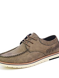 cheap -Men's Sneakers Moccasin Driving Shoes Comfort Light Soles Real Leather Oxford PU Leather Spring Fall Casual Office & Career Lace-upFlat