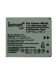 Ismartdigi 4L 3.7V 800mAh Camera Battery for Canon IXUS 230 220 115HS 130 120 110 100